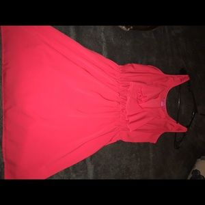 Red/pink ruffle dress